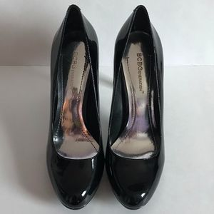 BCBGeneration Tinas Black Patent Leather Pumps